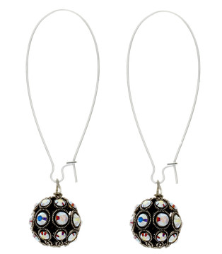 Crystal Filigree Ball Earrings
