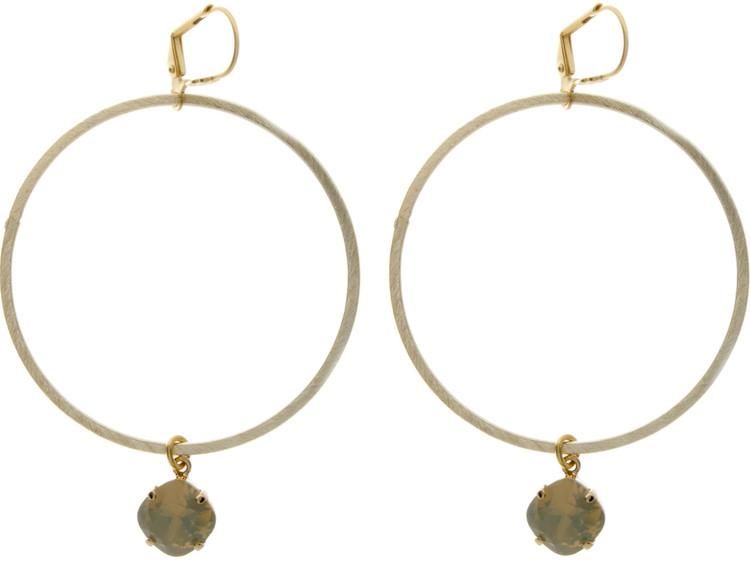 Large Hoop Earrings Goldtone