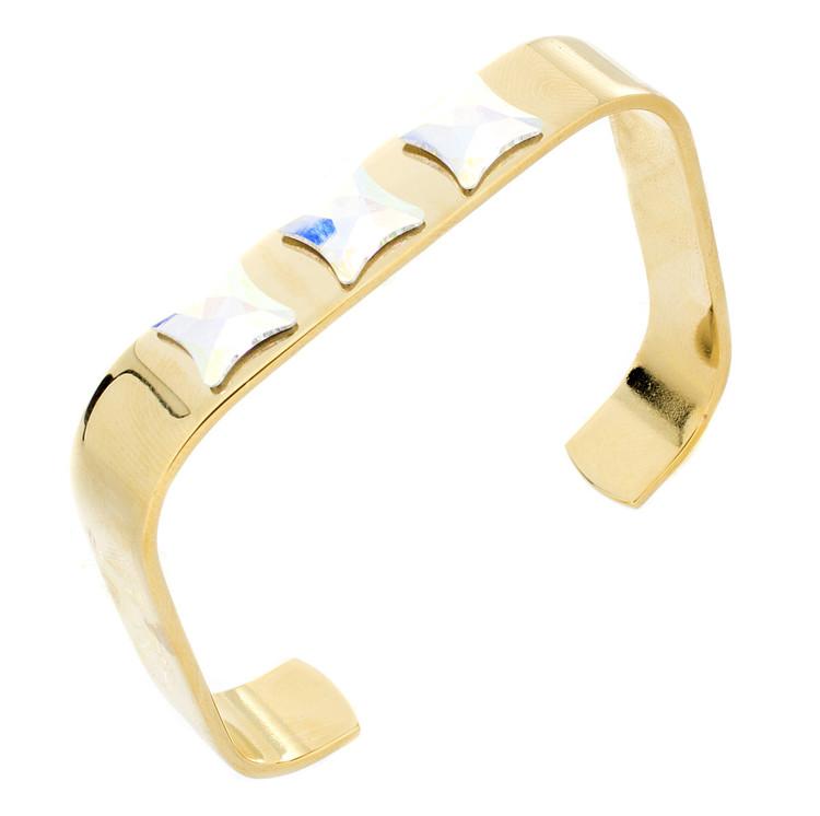 Crystal Cuff Hinged Bracelet