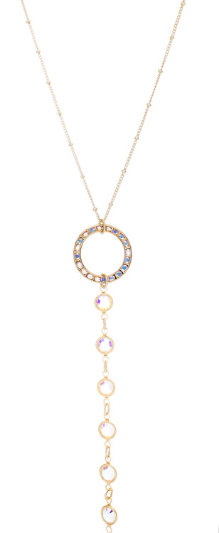 Circle/Fancy Chain Drop Necklace