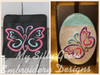 Both 4x4 & 5x7 Butterfly Book Band Oval with Pocket
