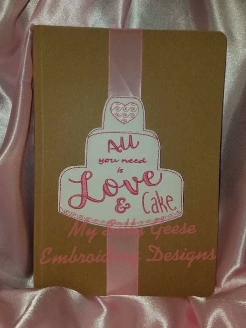 4x4 Love & Cake Book Band with Pocket