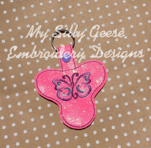 Key Chain Spinner Case Butterfly