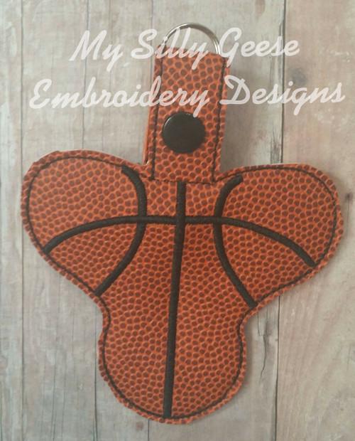 Key Chain Spinner Case Basketball