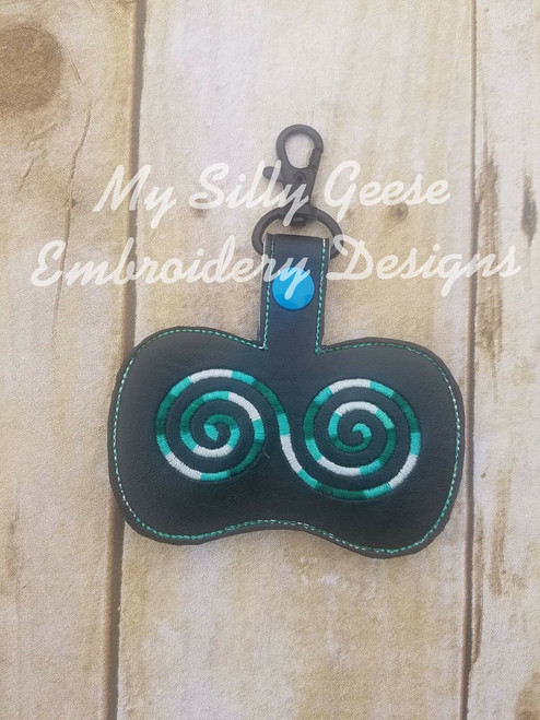 Key Chain Spinner Case Small Swirl