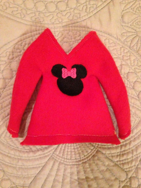 5x7 Elf Sweater Girl Mouse
