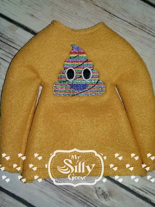 5x7 Elf Sweater Rounded Poop