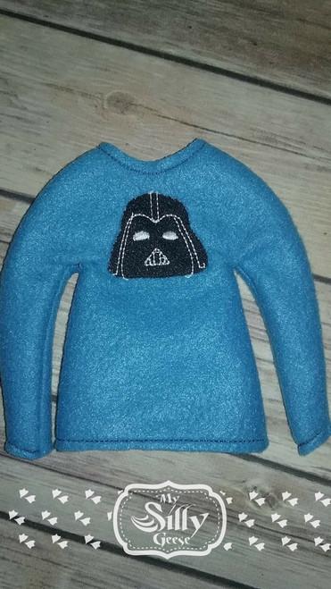 5x7 Elf Sweater Rounded Dark Star