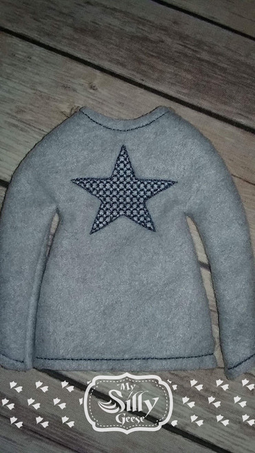 5x7 Elf Sweater Rounded Star