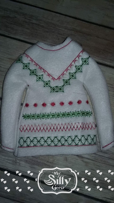 5x7 Elf Sweater Rounded Ugly