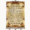 Autumn Vintage Romantic Vows Personalised Wedding Sign