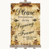 Autumn Vintage Signing Frame Guestbook Personalised Wedding Sign