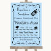 Blue Wedpics App Photos Personalised Wedding Sign