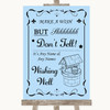 Blue Wishing Well Message Personalised Wedding Sign