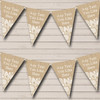 Pretty Burlap & Lace Personalised Retirement Party Bunting