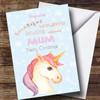 Mum Pretty Unicorn Personalised Christmas Card