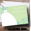 Green Blue Personalised Bridal Shower Party Invitations