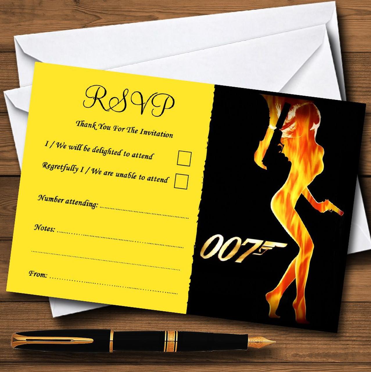 Bond girl james bond personalised rsvp cards the card zoo bond girl james bond personalised rsvp cards stopboris Choice Image