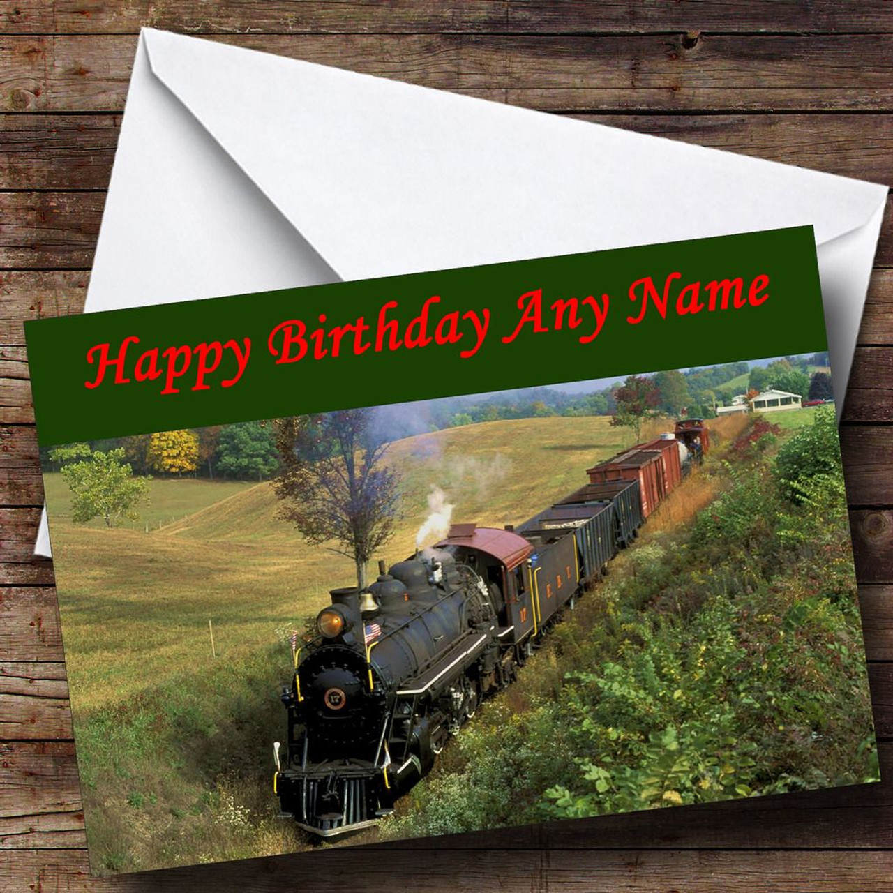 Steam train personalised birthday card the card zoo steam train personalised birthday card bookmarktalkfo Image collections