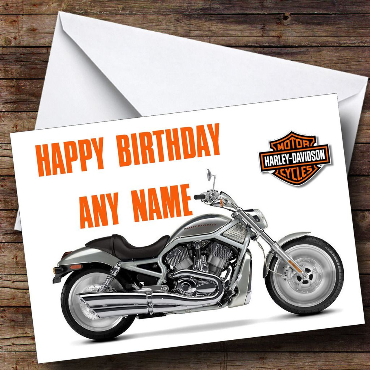 Harley davidson bike personalised birthday card the card zoo harley davidson bike personalised birthday card bookmarktalkfo Image collections