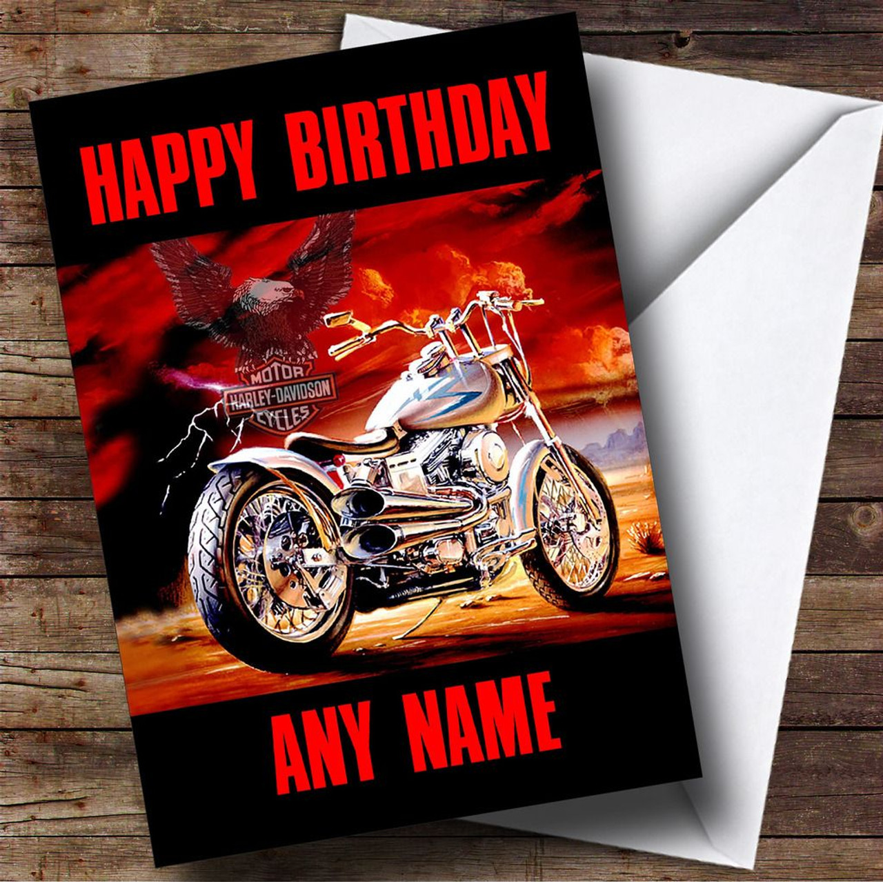 Harley davidson motorcycle personalised birthday card the card zoo harley davidson motorcycle personalised birthday card bookmarktalkfo Image collections