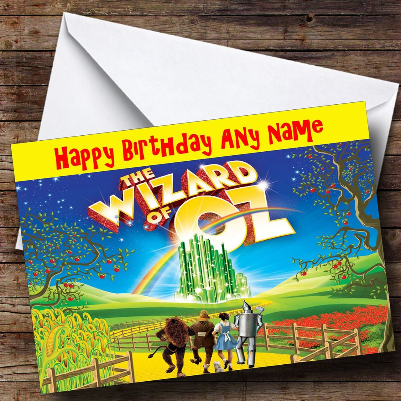 The wizard of oz personalised birthday card the card zoo the wizard of oz personalised birthday card bookmarktalkfo Image collections