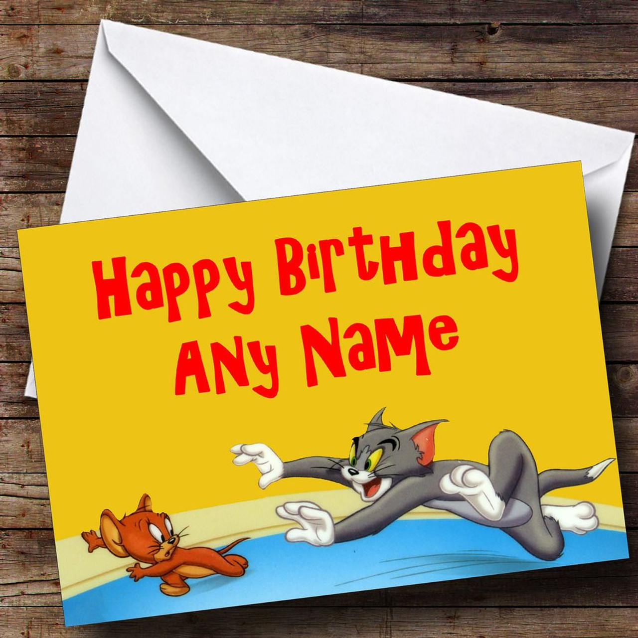 Tom Jerry Personalised Birthday Card The Card Zoo
