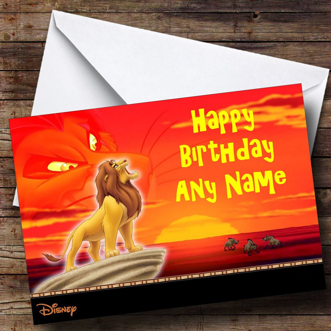 The lion king personalised birthday card the card zoo the lion king personalised birthday card bookmarktalkfo Images
