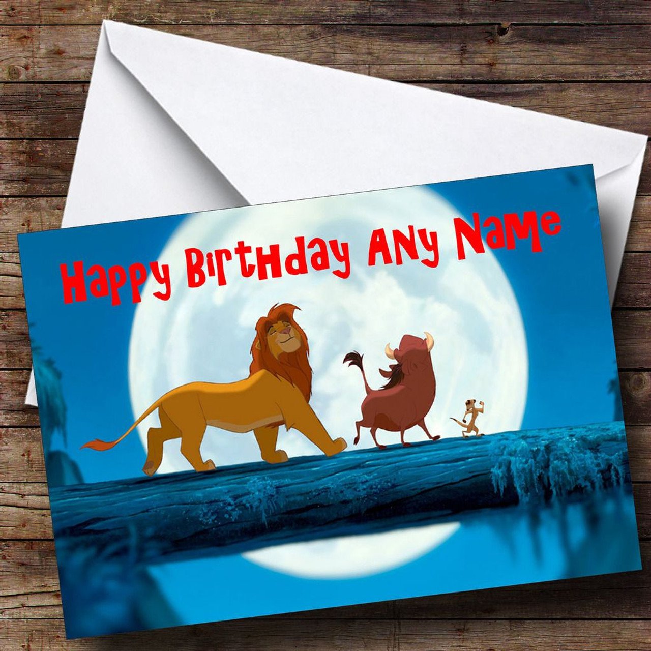 The lion king blue personalised birthday card the card zoo the lion king blue personalised birthday card bookmarktalkfo Images