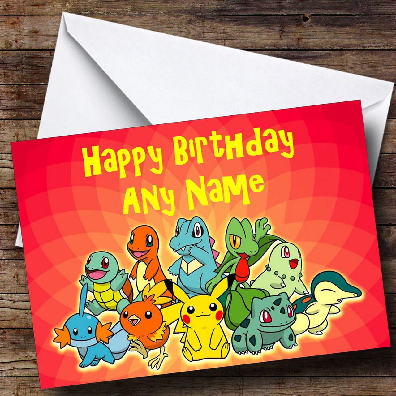 Ronaldo personalised birthday card the card zoo red pokemon personalised birthday card bookmarktalkfo