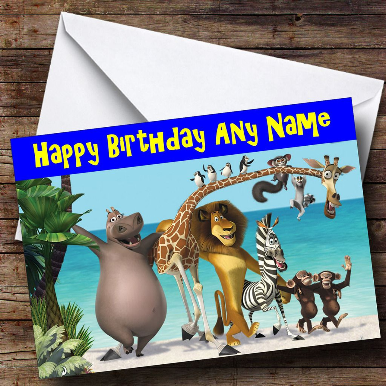 Personalised Cards - Birthday Cards - Kids TV & Film Character Cards ...