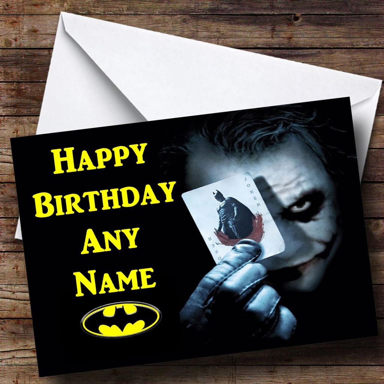 Batman The Joker Personalised Birthday Card The Card Zoo