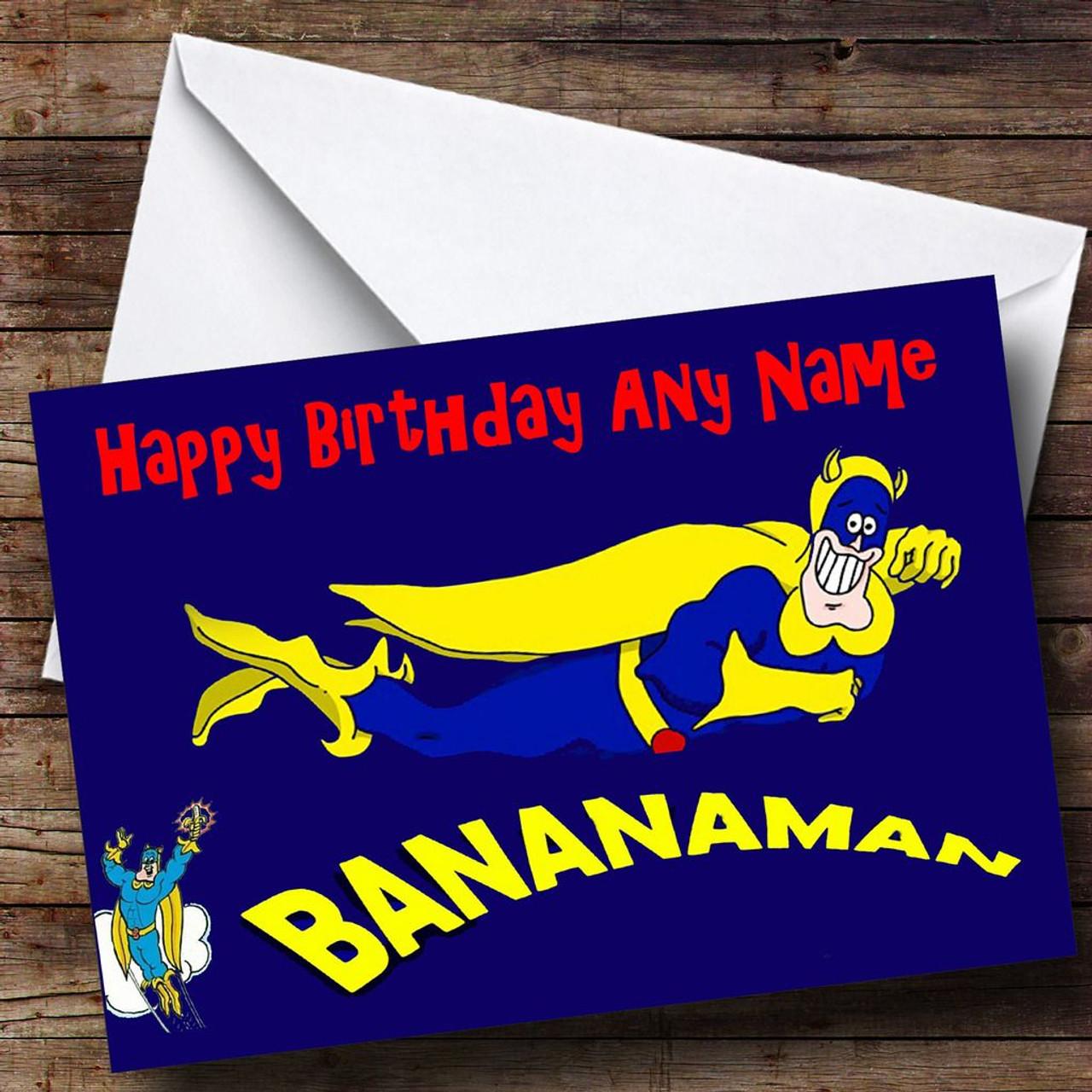 Bananaman Personalised Birthday Card The Card Zoo