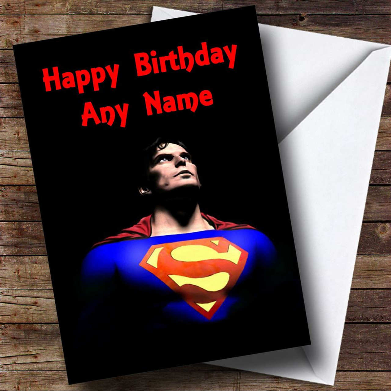 Superman Personalised Birthday Card The Card Zoo