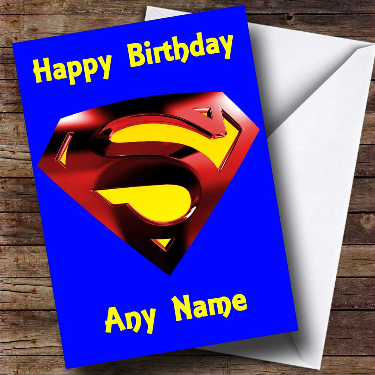 Blue superman badge personalised birthday card the card zoo blue superman badge personalised birthday card bookmarktalkfo Image collections