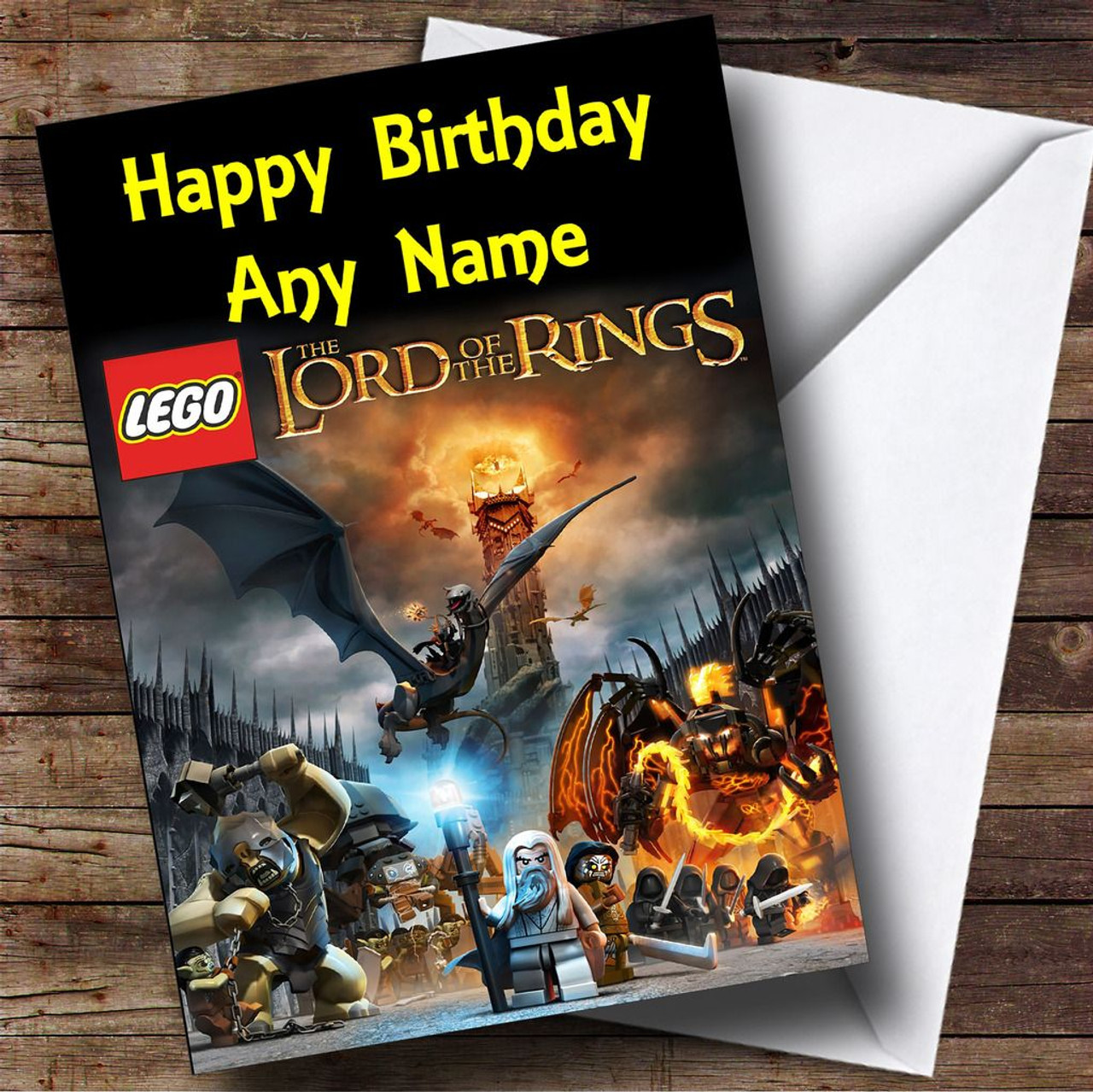 Lego Lord Of The Rings Personalised Birthday Card The Card Zoo