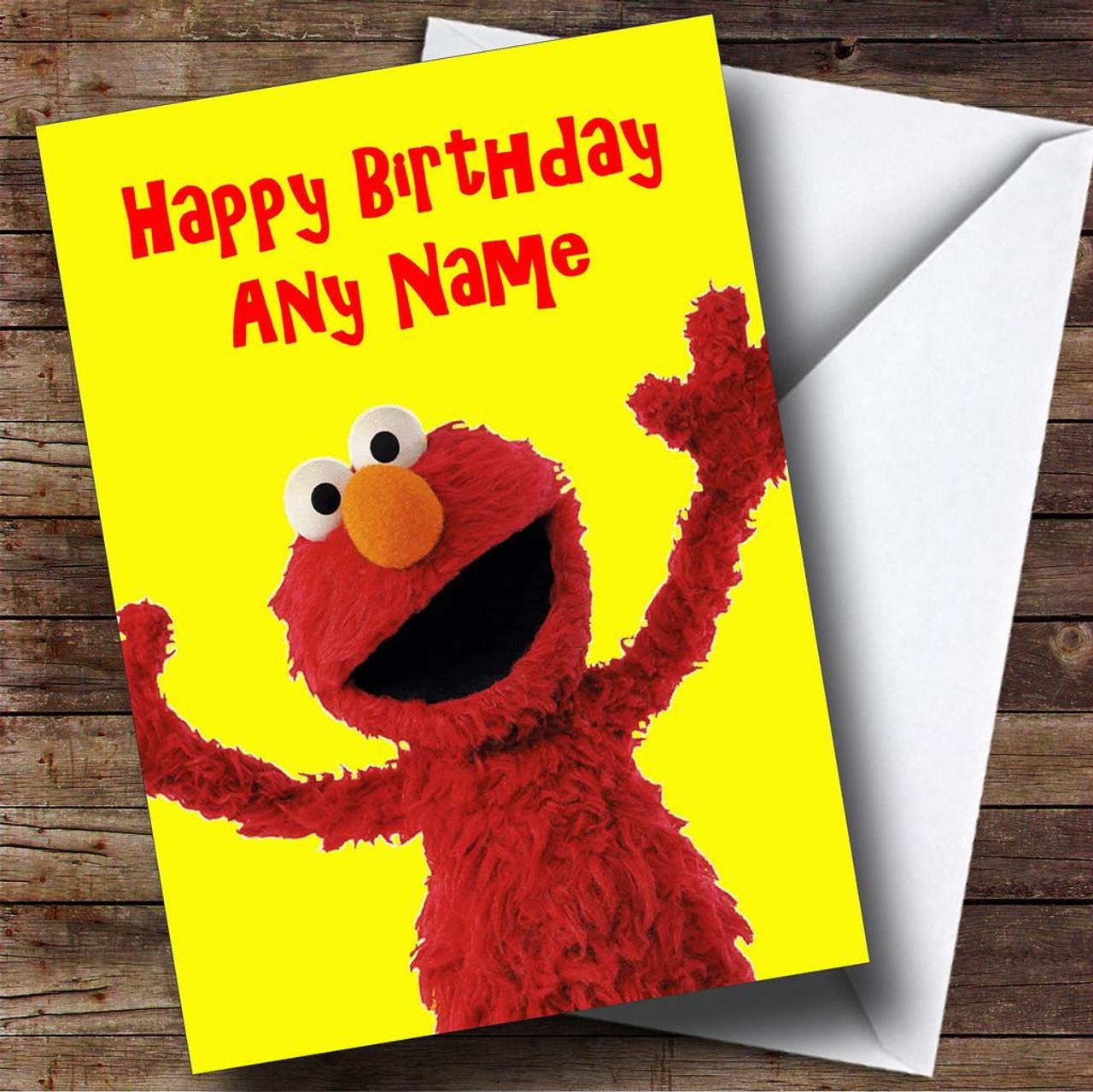 Elmo personalised birthday card the card zoo elmo personalised birthday card kristyandbryce Images