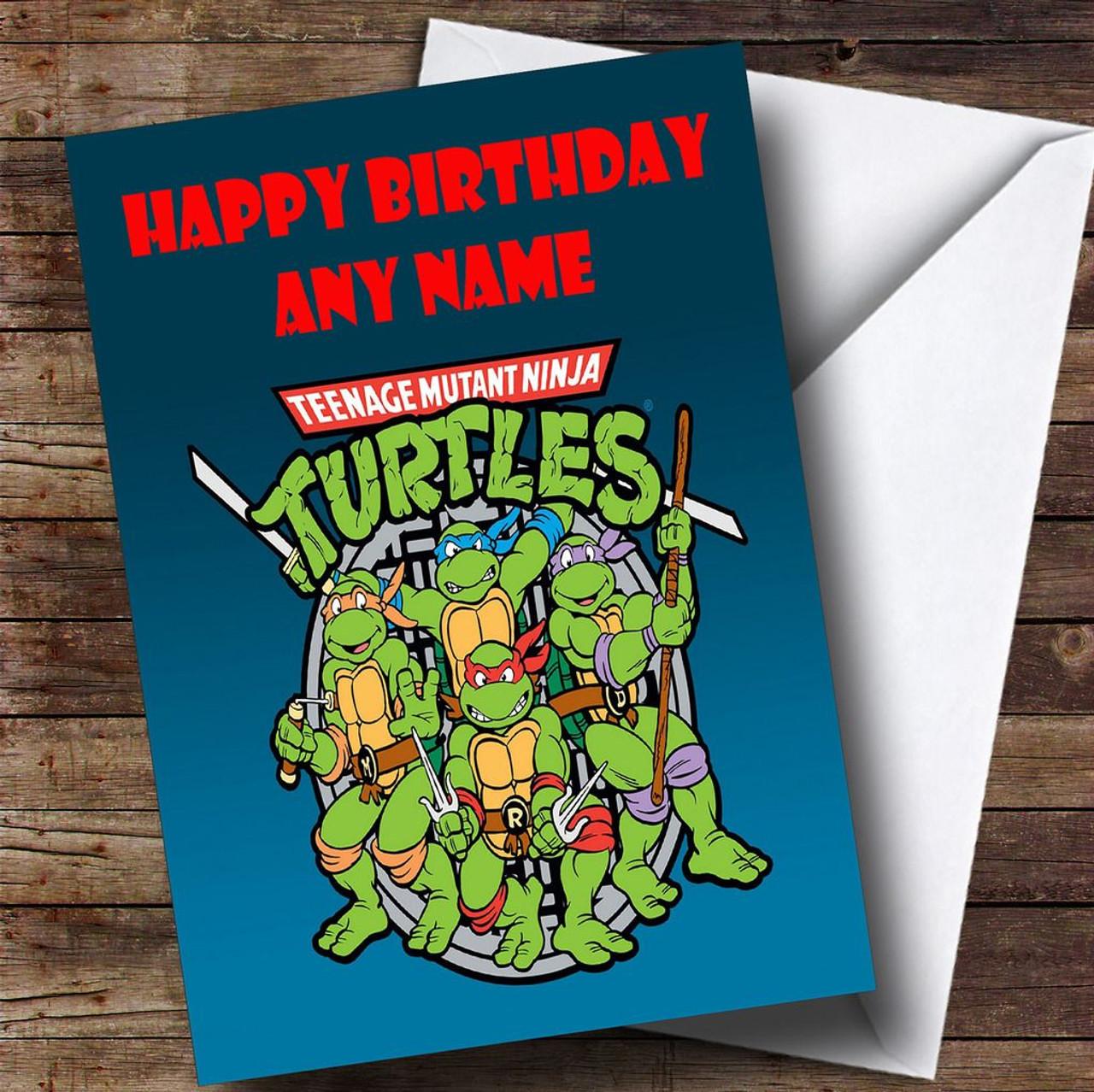 Teenage Mutant Ninja Turtles Personalised Childrens Birthday Card