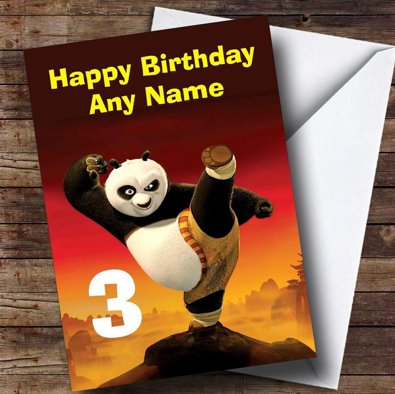 Kung fu panda personalised childrens birthday card the card zoo kung fu panda personalised childrens birthday card bookmarktalkfo Image collections