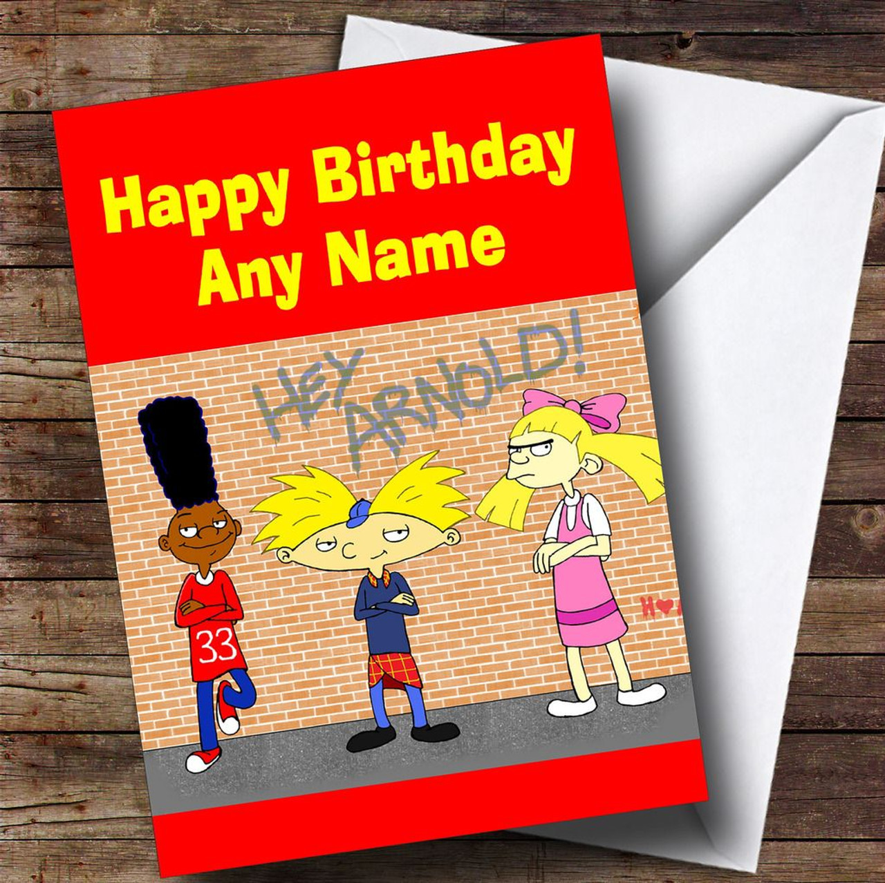 Arnold schwarzenegger personalised birthday card the card zoo hey arnold personalised childrens birthday card bookmarktalkfo Image collections
