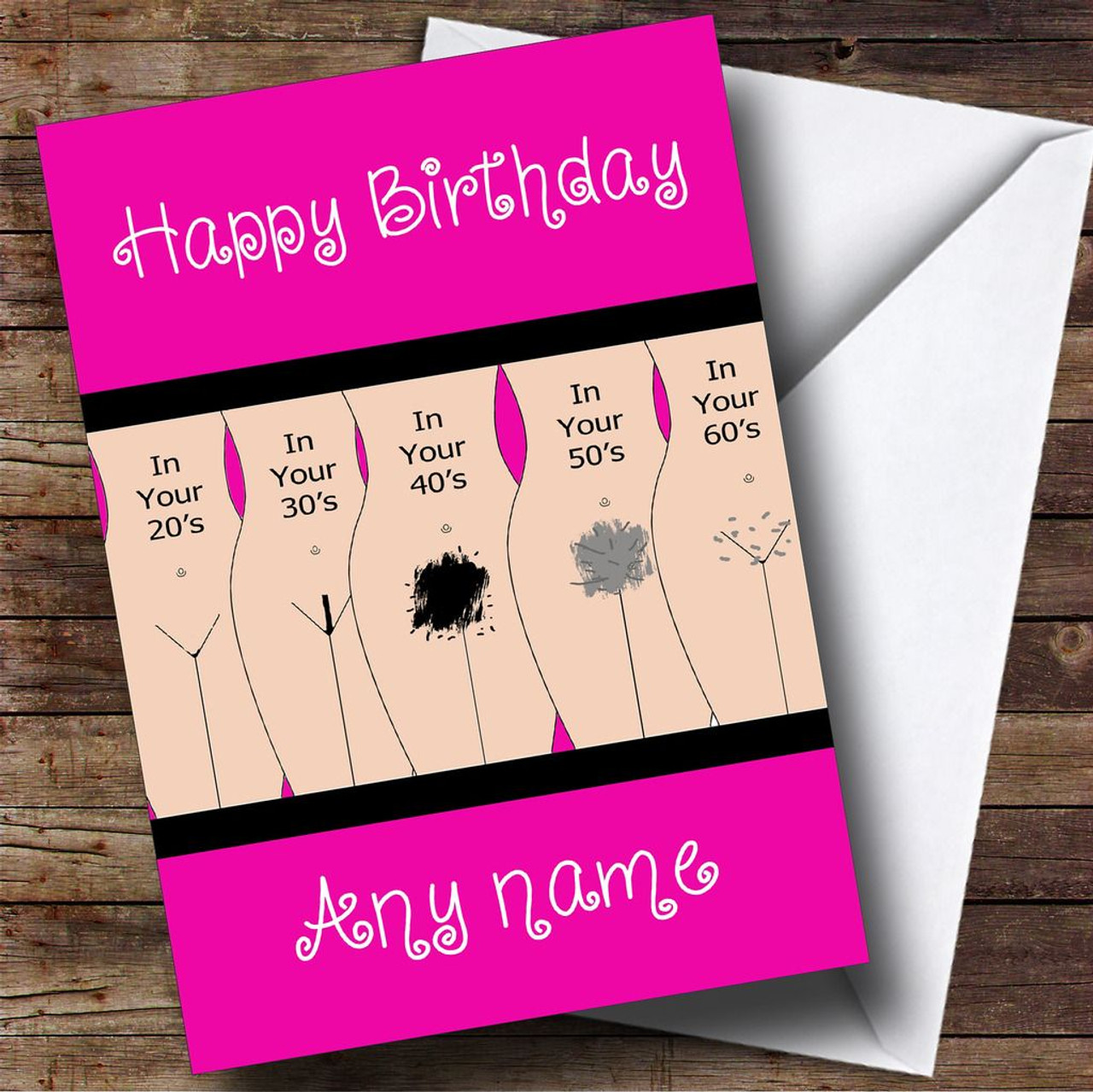 Funny joke getting old pubic hair personalised birthday card the funny joke getting old pubic hair personalised birthday card kristyandbryce Image collections