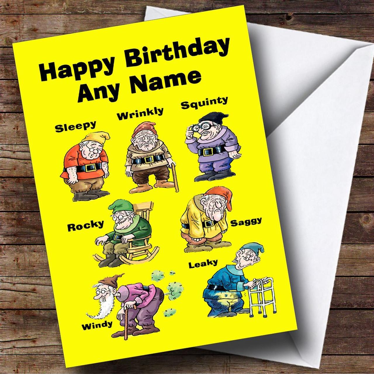 Funny old age dwarfs personalised birthday card the card zoo funny old age dwarfs personalised birthday card bookmarktalkfo Gallery