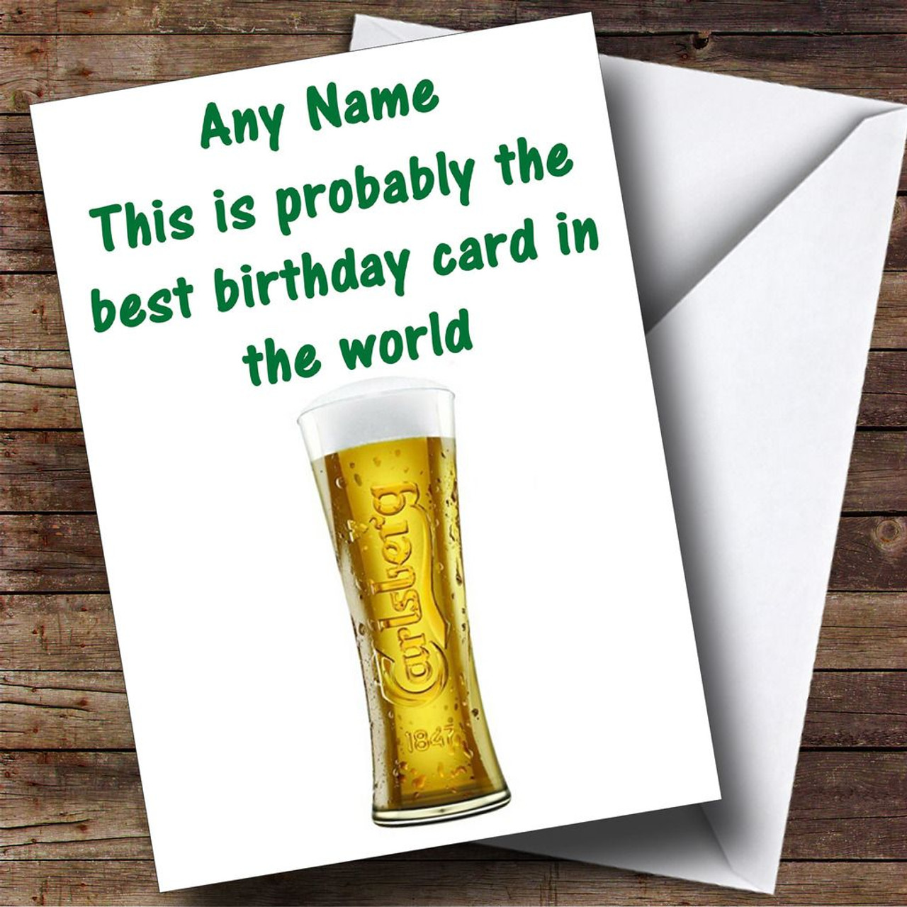 Carlsberg Lager Funny Personalised Birthday Card The Card Zoo