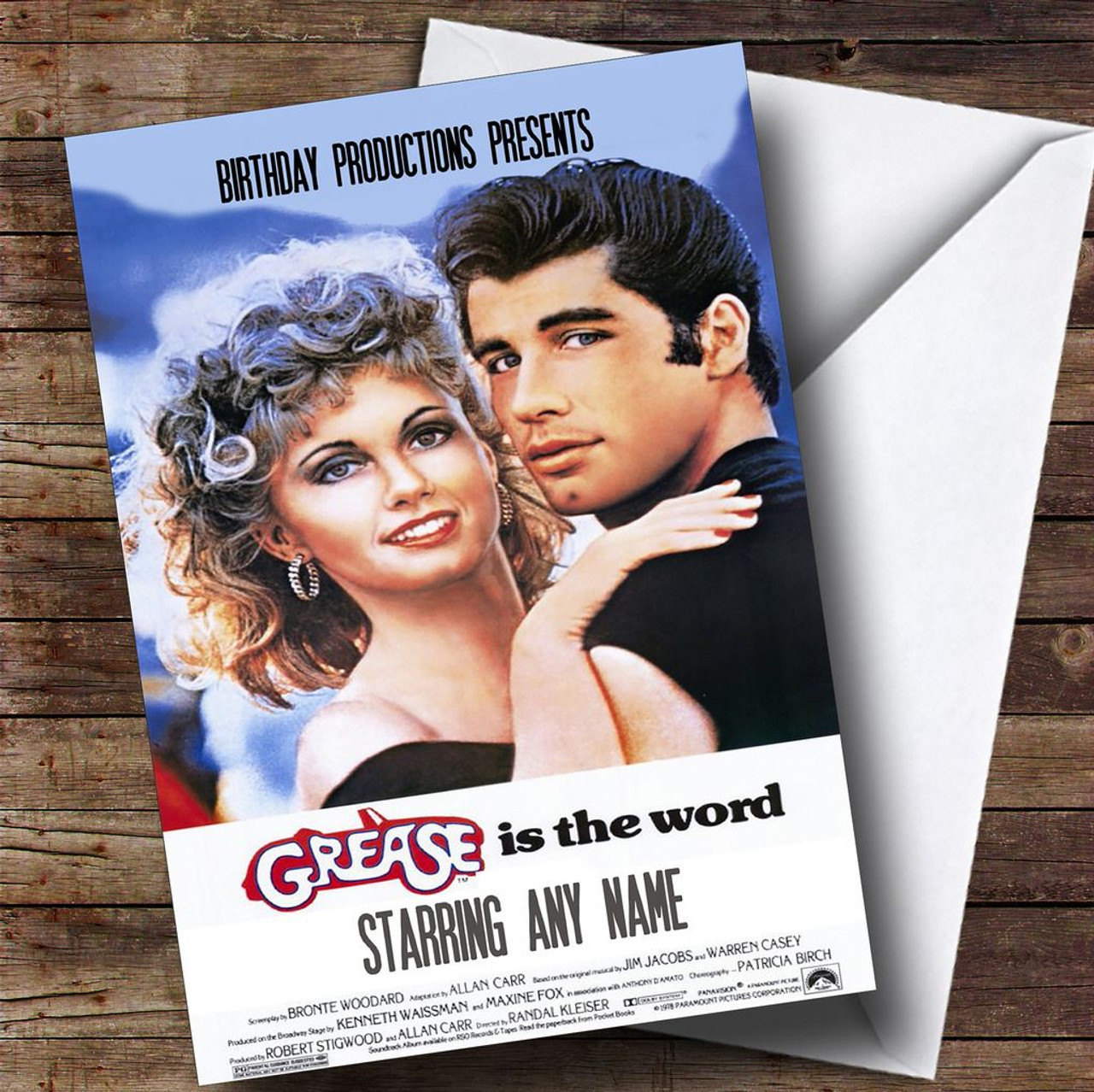 Spoof grease movie poster funny personalised birthday card the spoof grease movie poster funny personalised birthday card stopboris Image collections