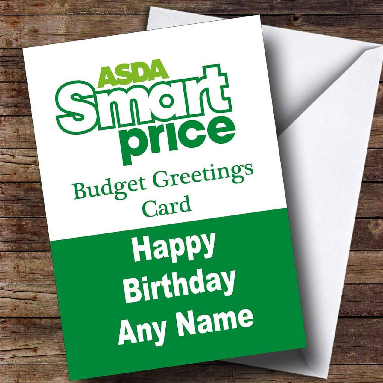 Funny Joke Asda Smart Price Spoof Personalised Birthday