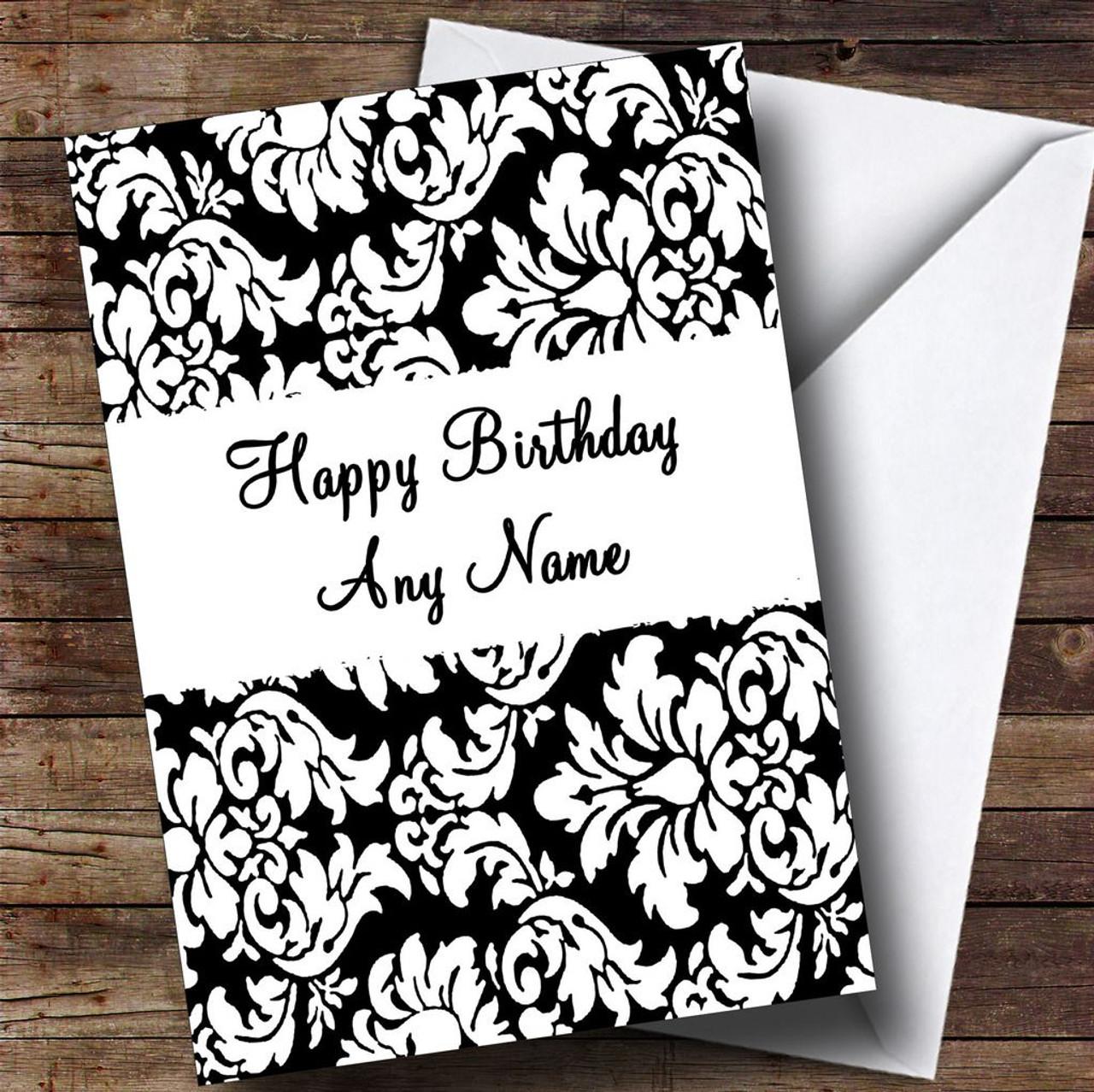 Birthday Cards Black And White Vatozozdevelopment