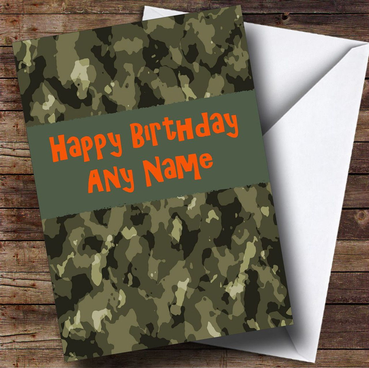 Personalised cards birthday cards design birthday cards page 1 camouflage army personalised birthday card bookmarktalkfo Choice Image