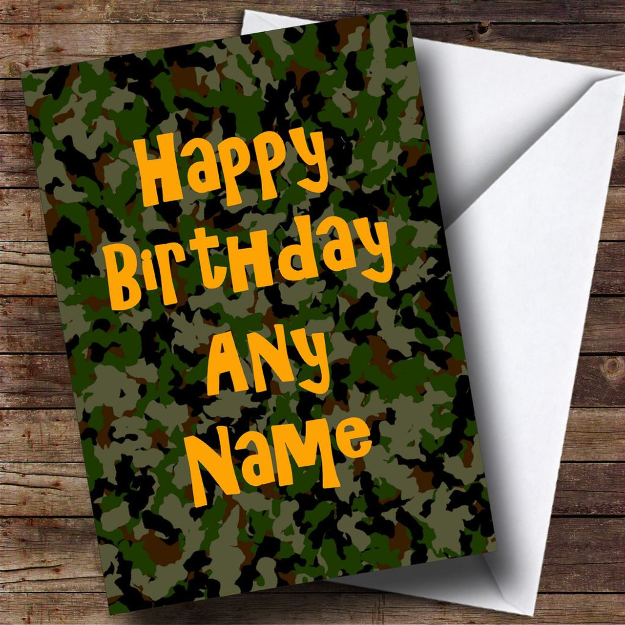 Camouflage army soldier personalised birthday card the card zoo camouflage army soldier personalised birthday card bookmarktalkfo Choice Image