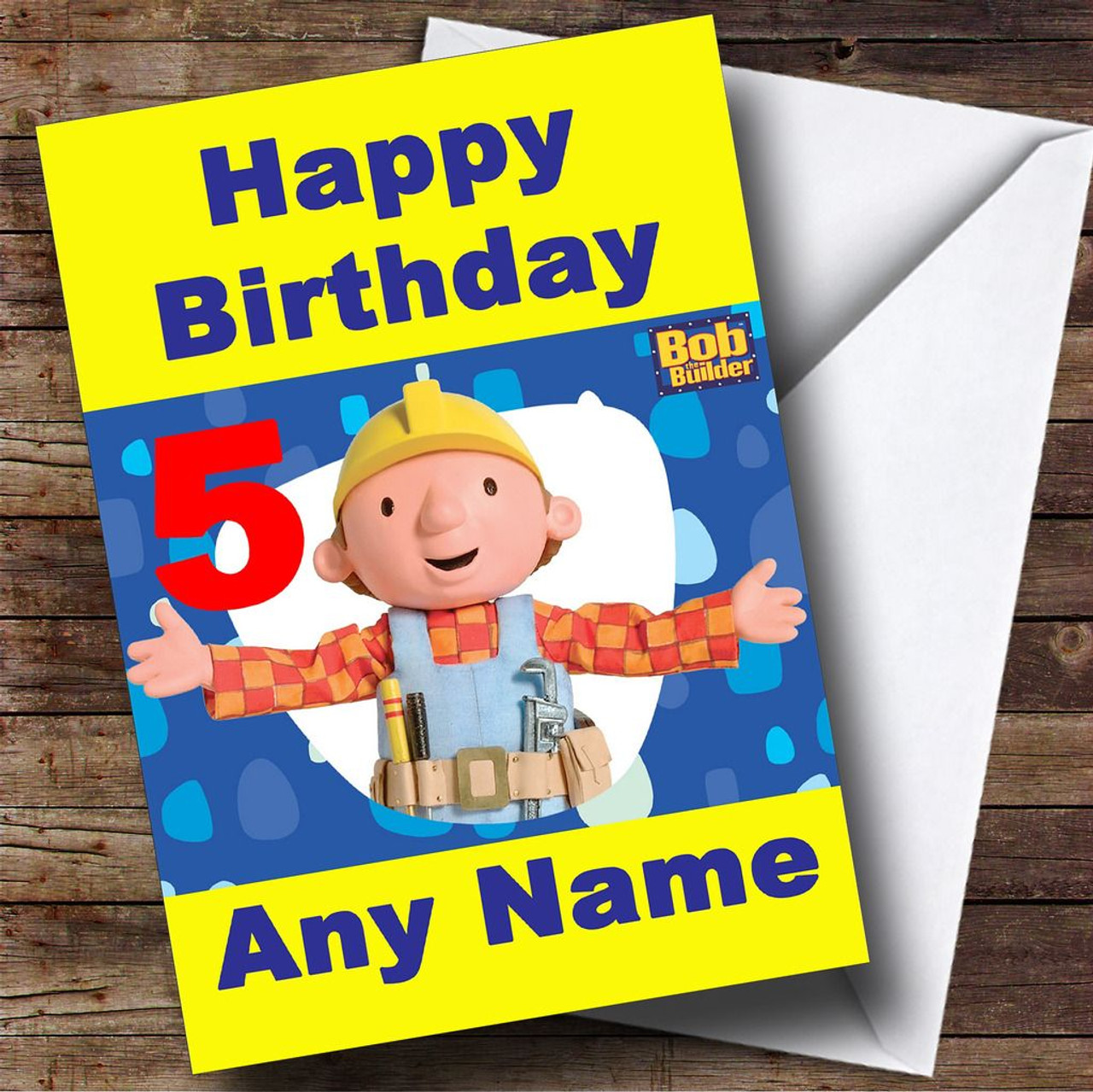 Bob the builder personalised birthday card the card zoo bob the builder personalised birthday card kristyandbryce Images