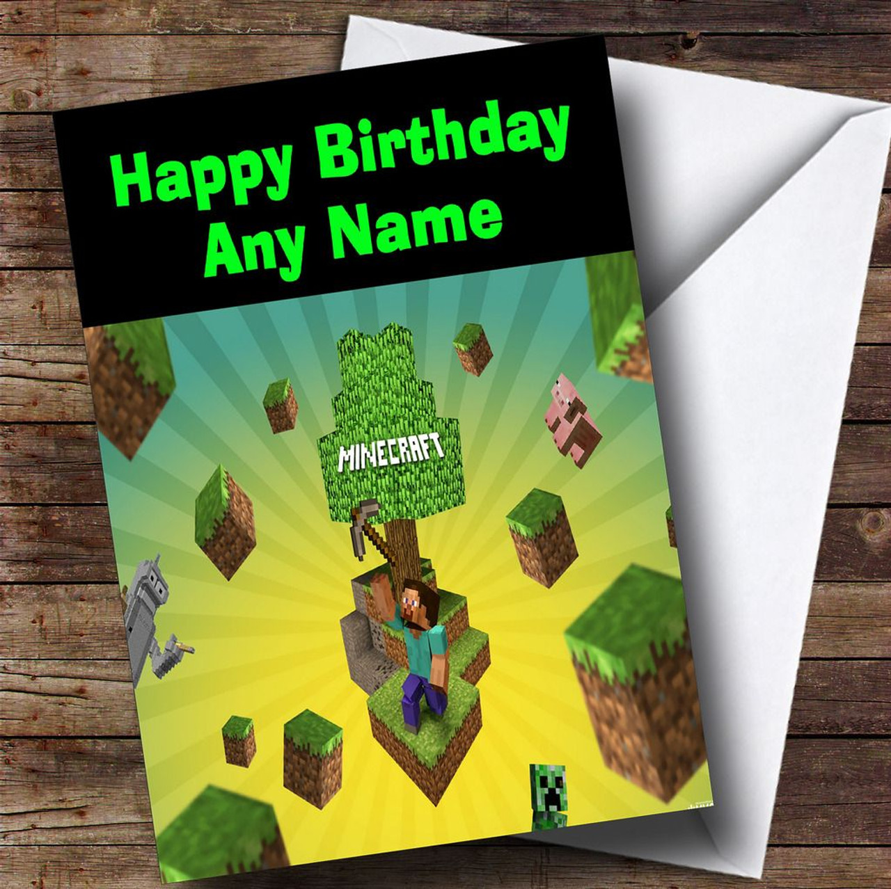 Minecraft characters personalised childrens birthday card the minecraft characters personalised childrens birthday card bookmarktalkfo Image collections